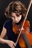 小提琴实践 库存图片
