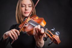 小提琴手 库存照片