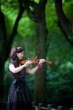 小提琴球员 图库摄影