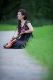 小提琴球员 免版税库存照片