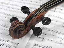 小提琴题头 图库摄影