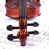 小提琴题头 免版税库存图片