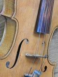小提琴,一台木串仪器的特写镜头 库存照片