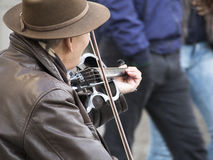 小提琴卖艺人 图库摄影