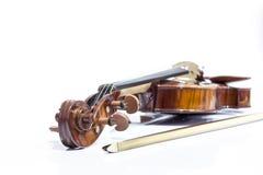 小提琴和弓 免版税图库摄影