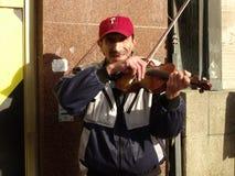 小提琴手 图库摄影