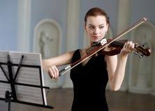 小提琴手 免版税库存照片