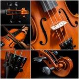 小提琴拼贴画 库存照片