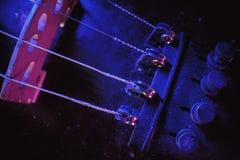 小提琴桥梁和美好的条频器 库存图片