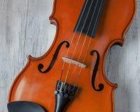 小提琴特写镜头射击 免版税库存图片