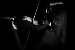 小提琴球员小提琴手古典音乐家 库存照片