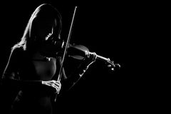 小提琴球员小提琴手古典音乐音乐会 免版税库存照片
