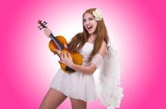 年轻小提琴球员 库存照片