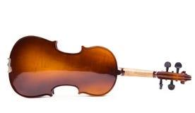 小提琴的反面 库存照片