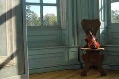 小提琴窗口 库存图片