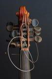 小提琴细节 免版税库存图片
