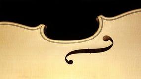 小提琴身体 库存图片