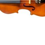 小提琴音乐会顶视图隔绝的 图库摄影