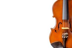 小提琴音乐会顶视图隔绝的 库存图片