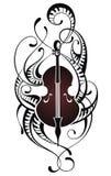 小提琴 音乐例证 免版税图库摄影