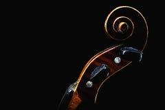 小提琴顶头细节 库存图片
