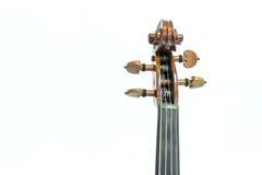 小提琴头 免版税库存图片