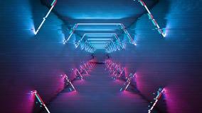 小故障作用霓虹灯设计 几何时髦最小的设计 数字小故障背景 皇族释放例证