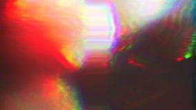 小故障坏电视错误作用,多种颜色的多彩多姿的组合在被隔绝的空间的 股票视频