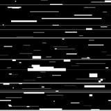 小故障抽象背景 与畸变,与任意水平的黑白线的无缝的样式的Glitched背景 免版税图库摄影