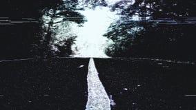 小故障森林公路 向量例证