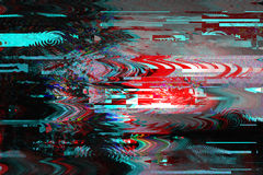 小故障背景 屏幕错误 数字式映象点噪声摘要设计 照片小故障 电视信号失败 库存图片