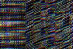 小故障荧光的背景 老电视屏幕错误 数字式映象点噪声摘要设计 照片小故障 电视信号 库存图片