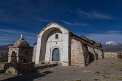 小教会萨哈马国家公园,玻利维亚 库存图片