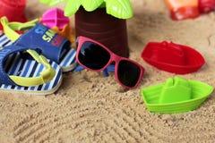 小旅行家在热带 免版税库存图片