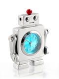 小时钟的机器人 库存图片