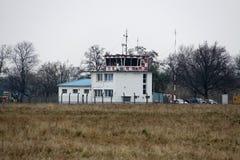 小机场塔 库存照片