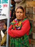 小村庄在喜马拉雅山状态喜马偕尔邦 免版税库存照片