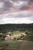 小村庄在法国(Ardeche) 图库摄影