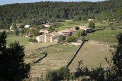 小村庄在法国(Ardeche) 库存图片