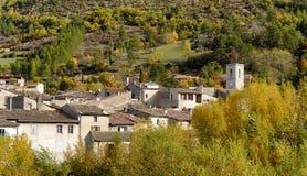 小村庄看法法国的南部的, automn的 库存照片