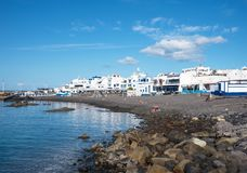 小村庄阿加埃特在大加那利岛 免版税库存图片