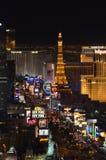 小条、House of吹管基础屋子、巴黎拉斯维加斯,巴黎旅馆和赌博娱乐场,拉斯韦加斯大道,大都会,夜,城市, 免版税库存图片