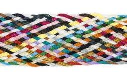 小条多彩多姿被编织的棉花 免版税库存照片