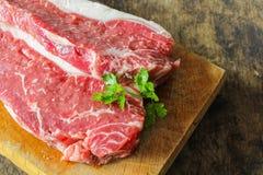 小条腰部牛肉 库存照片