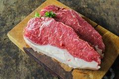 小条腰部牛肉 图库摄影