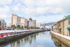 小樽运河日本 免版税库存图片