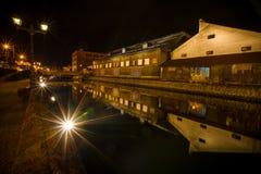 小樽运河,日本 免版税库存照片