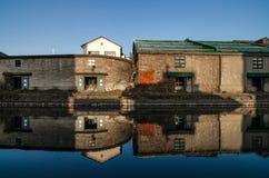 小樽运河 免版税库存照片