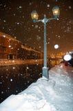 小樽,北海道,雪闪烁的节日 库存照片