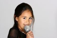 小歌唱家 免版税库存图片